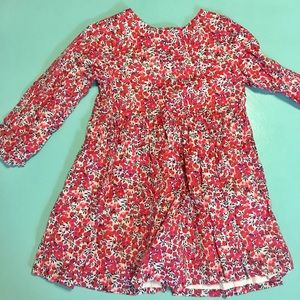 Jacadi Long Sleeved Cherry Print Dress 36M